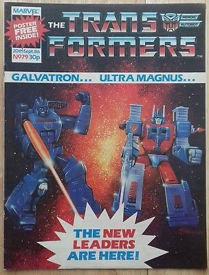 Transformers UK Comic Issue 79 With Free Gift Poster