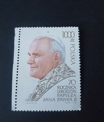 POLAND - 1990 - POPE JOHN PAUL II -  70th BIRTHDAY - MINT - MNH (D83)