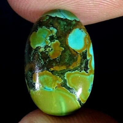 6.30Ct NATURAL GENUINE TIBET TURQUISE CABOCHON OVAL SHAPE LOOSE GEMSTONE