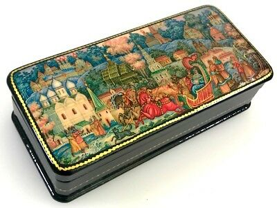Troika - Russische Lackdose Schatulle Russian lacquer box Palekh