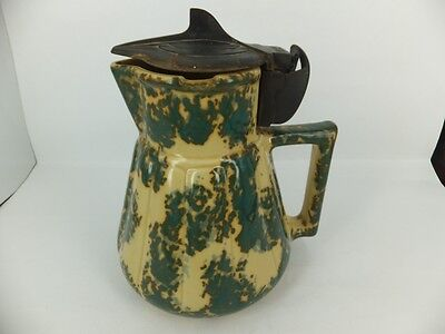 Hecla electric jug / kettle no cable - speckled mustard and green glaze