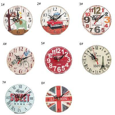 Vintage Room Antique Decor Wooden Wall Clocks Clock Shabby Chic Retro Kitchen