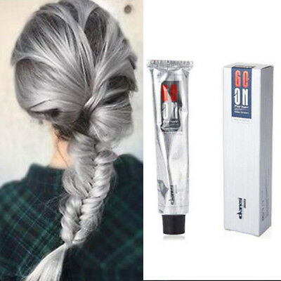 Unisex Smoky Gray Silver Light Grey Permanent Hair Dye Color Cream-Punk Style