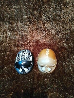 2 Scarab Big Statue Egyptian  Hand Craft  Hieroglyphics Amulet Beetle  Antique