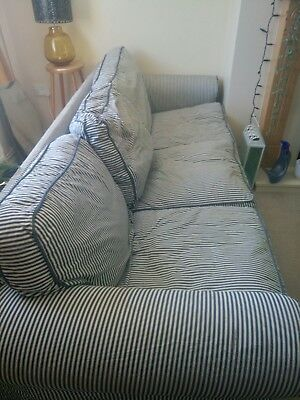 Ikea Ektorp 3 Seater Sofa Nautical Blue And White