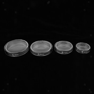 Petri Dish Glass Sterile Cell Tissue Culture Dish with Clear Lids 60/75/90/100mm