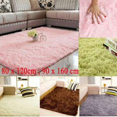 NEW Soft Fluffy Thick Kids Pink Shaggy Rugs Baby Pink Shaggy Rug For Living Room