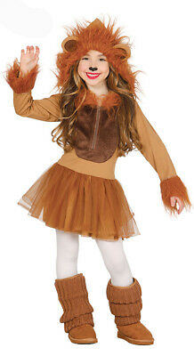 Girls Lion Costume Lion King Fancy Dress Outfit Disney Play Kids Age 3-4-6-9 NEW