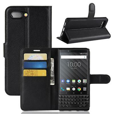 Blackberry Keytwo Key2 Coque de protection Housse Pochette Wallet Case Noir