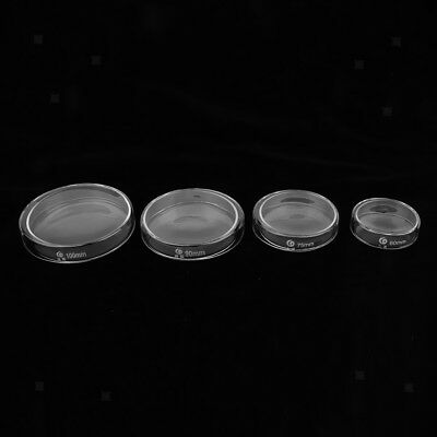Petri Dish Glass Sterile Cell Tissue Culture Dish with Lids 60mm/75mm/90mm/100mm