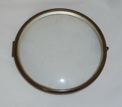 "Hinged glazed bezel from 1930's mantel clock  for 5 3/4"" dial"