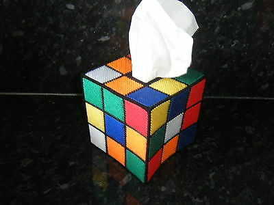 Rubik's Rubix Rubic Cube Big  Bang Theory Tissue Box Cover-Hand Made