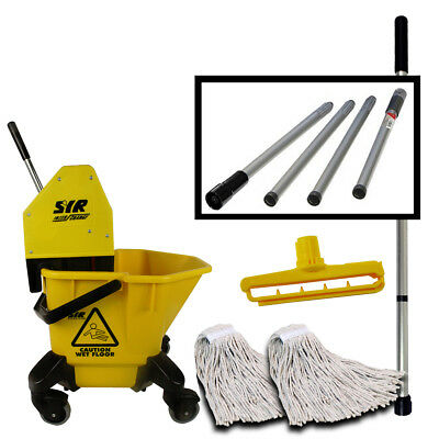 SYR Kentucky Large TC 20 Litre Mop Bucket Set With 4 Way Fold Down Handle YELLOW