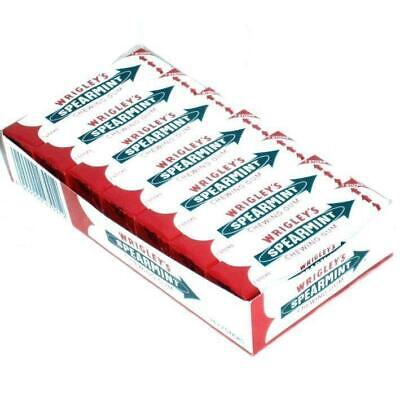 Wrigleys Spearmint Gum - Full Box