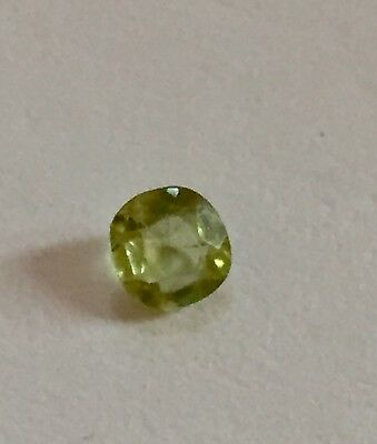 Citrine Gemstone Light Green Faceted 4.13 mm Natural Citrine