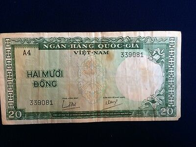 World Paper Money Vietnam Banknote Hai Muoi Dong 20 Ngan Hang Quoc Gia