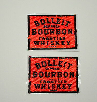 2 Bulleit Bourbon Frontier Whiskey Cloth Patch New NOS