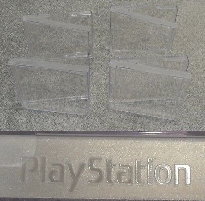 NEW-4 x OFFICIAL GENUINE SONY PLAYSTATION PS 1-PS1 REPLACEMENT GAME CASE EMPTY