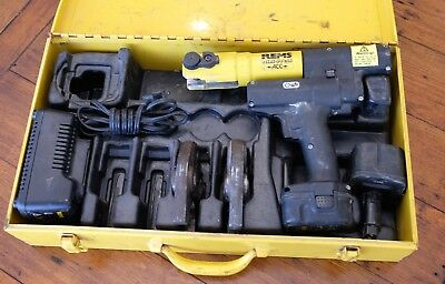REMS Mini Press Mfg Germany Press Tool - 2 Dies - Used