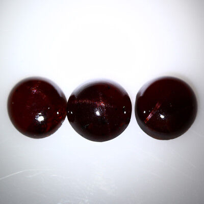 11.235 Ct Exclusive Brilliant! 100% Natural Top Red Garnet Star Unheated Cab !!!