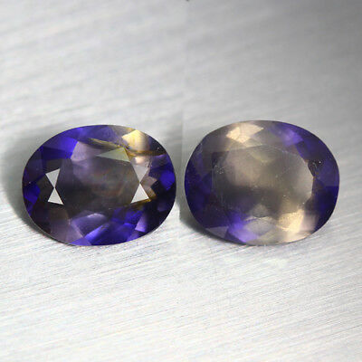 5.260 Ct Ultra Rare Best Grade Unheated 100% Natural Super Blue Iolite Pair !!!