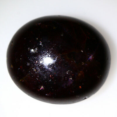 12.345 Ct Exclusive Brilliant! 100% Natural Top Red Garnet Star Unheated Cab !!!