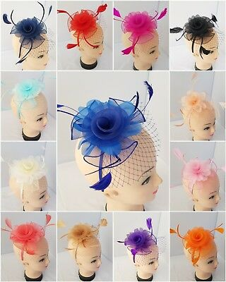 Women classy casual flower clip fascinator headband wedding royal ascot races