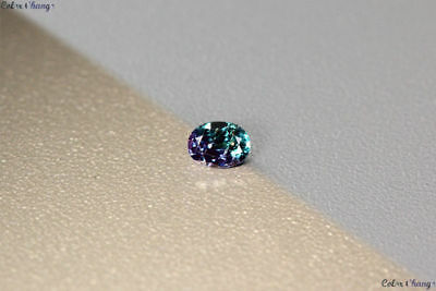 0.170 Ct Unique 100% Nr' Dancing Color Change Alexandrite Gemstone Aaa Oval !!!!