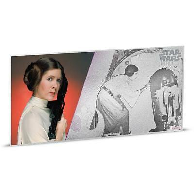 Princess Leia Star Wars New Hope 2018 5 Grams $1 Fine Silver Foil Bank Note