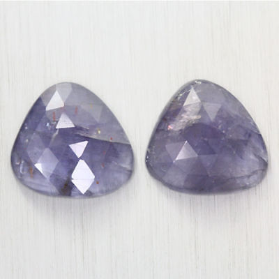 17.725 Ct Ultra Rare Best Grade Unheated Natural Super Blue Iolite Nr! Pair