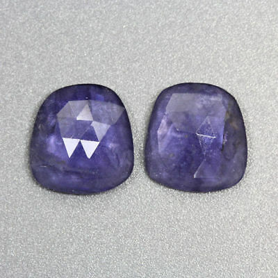 6.780 Ct Ultra Rare Best Grade Unheated Natural Huge Super Blue Iolite Nr! Pair