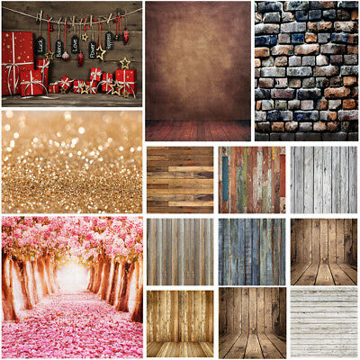 UK 5x7FT 3x5FT Type Photo Photography Backdrop Wood Wall Floor Background