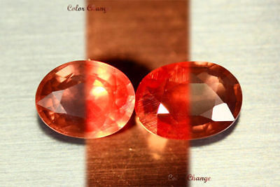 4.190 Ct Rare Natural From Earth Mined *color Change Malaya Garnet* Aaa+ 2-Pcs