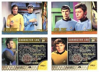 STAR TREK TOS SEASON 3 (Fleer/Skybox, 1999)--CHARACTER LOG Set -9 (39/48)^^