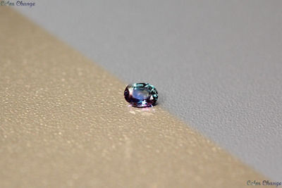 0.135 Ct Unique 100% Nr' Dancing Color Change Alexandrite Gemstone Aaa Oval !!!!
