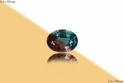 0.170 Ct Unique 100% Nr' Dancing Color Change Alexandrite Gemstone Aaa Oval~!!!!