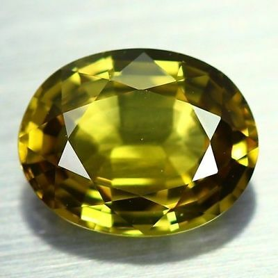 """2.35 Cts"""" VERY VERY RARE NATURAL CHRYSOBERYL OVAL CUT 100% NR AAA++  !!!"""