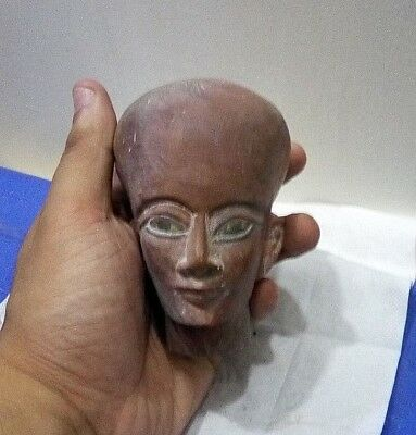 ANCIENT EGYPTIAN ANTIQUE HEAD of Akhenaten Nefertiti Daughter 1334-1300 BC