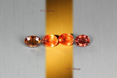 2.850 Ct Rare Natural From Earth Mined *color Change Malaya Garnet* Aaa+ 4-Pcs