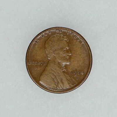 1914 S Lincoln Wheat Cent Penny 1C Xf Extra Fine (5605)