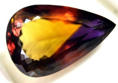 44.15 Ct Loupe Clean ! 100% Natural Purple & Yellow Ametrine Gem Stone Certified