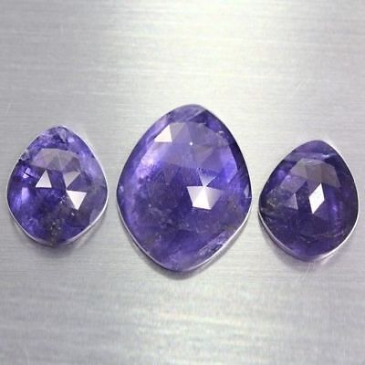 38.935 Ct Ultra Rare Best Grade Unheated Natural Huge Super Blue Iolite Nr! Set