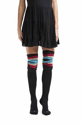 Bootights Women's Aztec Slouch Over-the-Knee Boot Socks with Knit Slouch Cuff