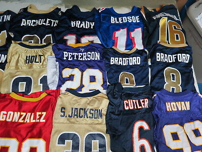 Lot Of 43 Nfl Jersey Football All Youth Sizes Rams Chiefs Colts Bears  Vikings 732624d29