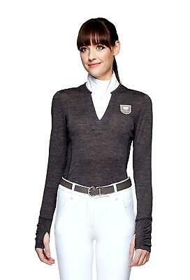 Asmar Equestrian Delta Merino Sweater with Magnetic Button Down Woven Collar