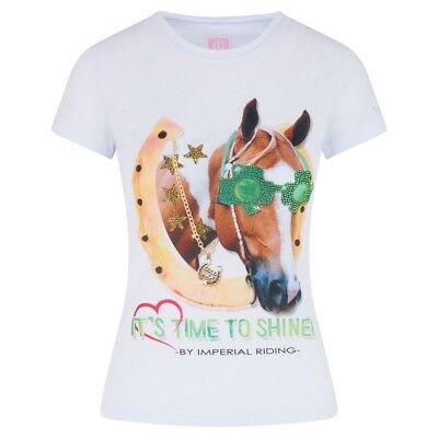 Kinder T-Shirt LUCKY HORSE Imperial Riding weiß 140