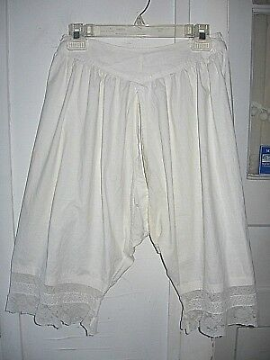 Genuine Vintage Open Crotch Victorian Pantaloon Bloomers/lace-Pintucks-Wearable