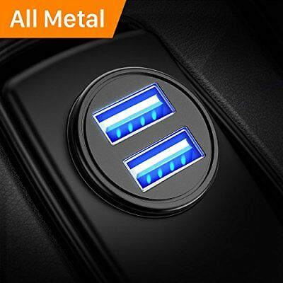 Car Charger, USB Car Charger Adapter with Mini Size Dual Port Fast Charging NEW