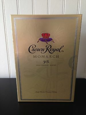 Sealed Retired Crown Royal Monarch 75th Anniversary Edition Box