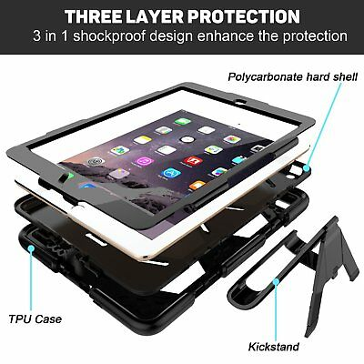 Tough Military Heavy Duty Shockproof Builder Case Cover For All APPLE IPAD
